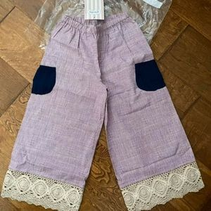 NWT Persnickety double Dutch pocket capri pants